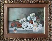 Colorful American 20th Century Flower Still Life Painting John A. Dix 1880-1945