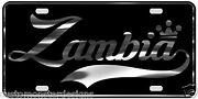 Zambia License Plate All Mirror Plate And Chrome And Regular Vinyl Choices