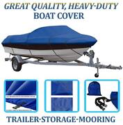 Blue Boat Cover Fits Hewescraft-west Coast 210 Sport Jet Rr 1999-2005