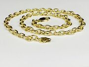 14k Solid Yellow Gold Handmade Rolo Link Menand039s Chain/necklace 24 50 Grams 6 Mm