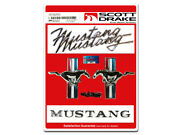 Ford Mustang Badge Emblem Kit 1968 68 289 302 351 5.0 390 Coupe Fastback Convert