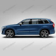 Painted Body Side Moldings With Chrome Trim Insert For Volvo Xc90 2015-2020