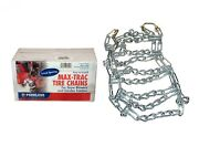 Snowblower Tire Chains 4.00-4.80-8 Set 2-link Spacing For Deep Lug Tires New
