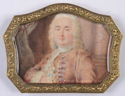 Portrait Of An Aristocrat High Quality French Miniature 1740s