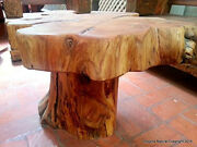Naturally Unique Cypress Tree Trunk Handmade Coffee Table - Rustic Chilean Log T