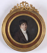 Athanasius Smolky Portrait Of A Gentleman Extremely Rare Miniature