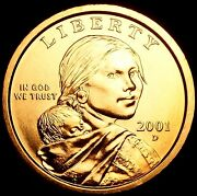 2001 D Sacagawea Dollar Us Mint Coin In Brilliant Uncirculated Condition