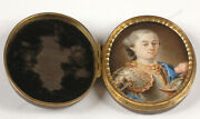 Portrait Of A Young French Miniature 1st Half Of The 18th Century