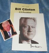 Bill Clinton Autographed Photo- And Photos Collectible