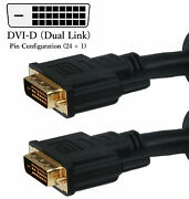 Heavy Duty Dvi-ddual Link 24awg Computer Monitor Digital Video Cable Cl2 Long