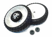 2 Oem Toro Wheels And Gear Pinions For 22 Inch / 55 Cm Recycler Push Lawn Mower