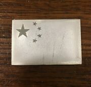 China Sterling Silver Ingot Bar From Franklin Mint Flags Of The United Nations