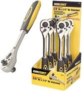 Maxcraft 3/8in Dr. X 1/2in Dr. Dual Drive Ratchet Max60214