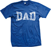 Dad White Letters Words Father Day Old Man Daddy Parent Pop Love Menand039s T-shirt