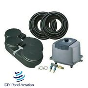 New 2 Acre 60' Large Pond Aerator System W/ 4 Diffusers/ Sink Tube/complete Kit