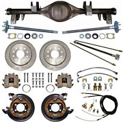 Currie 65-70 Impala Rear End And Disc Brakes,lines,parking Brake Cables,axles,etc.