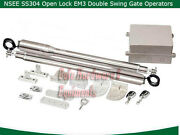 Nsee Ss304 Em3 Residential Double Operator Automatic Dual Swing Gate Door Opener