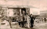 East Bridgewater Ma Belmont Baking Co. Delivery Horse And Wagon Brockton Postcard