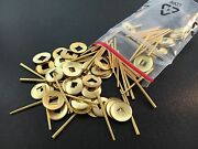 Clocks Repair Brass Hand Washers 100 Piece Tapered Pins And Brass Washers