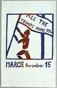 All The Troops Home Now. 1969 Anti-vietnam War Protest March Poster