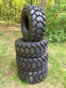4 Galaxy Hulk L5 14-17.5 Skid Steer Tires For Bobcat And More- 14x17.5 Heavy Duty