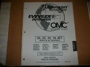 Evinrude Outboard Motor Boat Engine 20 52 30 18 Jet Rope And Ac Illust. Parts