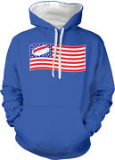 American Flag Hot Dog Usa Bbq Cookout Fourth July Us Two Tone Hoodie Sweatshirt