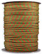 Neon Green And Orange 50/50 - 550 Paracord Rope 7 Strand Cord - 1000 Foot Spool