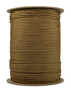 Coyote Brown - 550 Paracord Rope 7 Strand Parachute Cord - 1000 Foot Spool