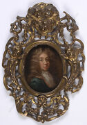 Portrait Of Samuel Pepys Superior Anglo-dutch Oil On Copper Miniature