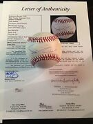 2012 Game Used Pitched Yu Darvish Ball- Rare Rookie Baseball -jsa Letter 1/1
