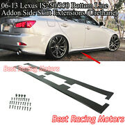 Bottom Line Style Addon Side Skirt Extensions Urethane Fits 06-13 Is250 Is350