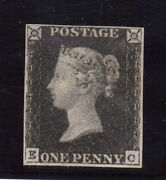 Great Britain 1 Vf Mint With Four Margins
