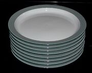 Dansk 8.75 Ringsted Green Set Of Eight 8 Salad Or Luncheon Plates