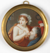 Caritas Romana High Quality Swiss Miniature Late 18th Century