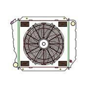 Griffin Radiator And Electric Fans Bronco W/ Late Model V8 Manual Trans Cu-00170