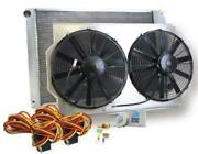 Griffin Radiator And Electric Fans Gm A/g Body W/ Ls Conv Manual Trans Cu-00019-ls