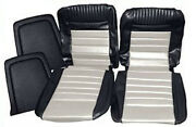 Ford Mustang Deluxe Pony Seat Trim Kit Black And White 65 66 1965 1966 Convertible