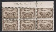 Canada C1i Nh Mint Plate 2 Block Ur Stamp With Swollen Breast Variety
