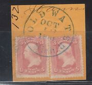 Usa 64b Used Two Copies On Cancelled Coldwater Michigan Cover Piece