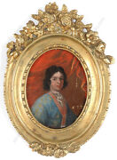 Portrait Of A 28-year-old German Aristocrat, Oil On Copper Miniature