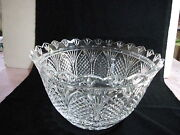 Stunning Waterford Centerpiece Bowl, 7h, 12w, Etched+foil, Excellent Condition