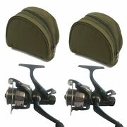 Carp Fishing Reels Runner X2 Max40 Freespool With 8lb Line And Reel Cases
