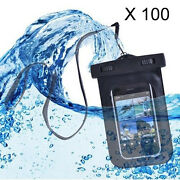 Qty 100 X Waterproof Underwater Pouch Dry Bag Case Covers For Smartphones [lot]