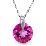 1 Ctw 14k Solid White Gold Fine Admitting How Pink Topaz Necklace 20