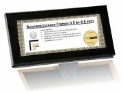 Business License Frame W/ Stand - Holds Any 3.5 By 8.5 Inch W/ Hanger And Glass