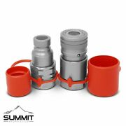 3/4 Npt Flat Face Hydraulic Quick Connect Couplers Couplings Skid Steer Bobcat