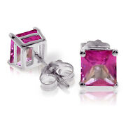 1.75 Carat 14k Solid White Gold Dream To Dare Pink Topaz Earrings