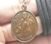 Thai Buddha Real Amulet Rich Lucky Pendant Necklace Lp Suang Miracle Magic Monk
