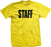 Staff Official Employee Backstage Personnel Team Work Concert Am Menand039s T-shirt